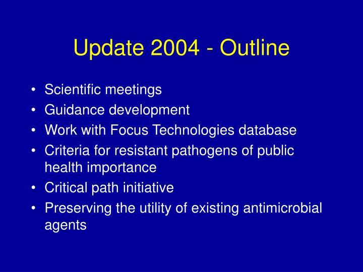 Update 2004 - Outline