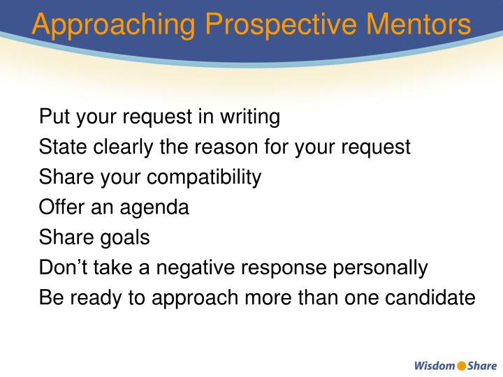 Approaching Prospective Mentors
