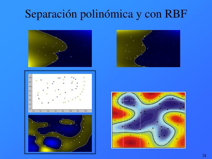 Separación polinómica y con RBF