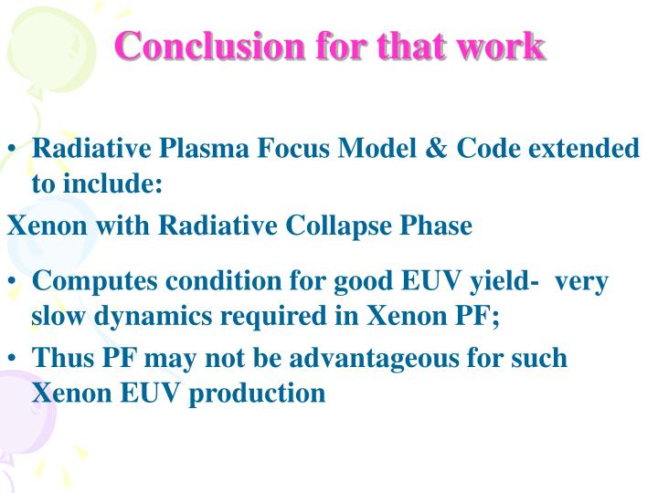 Conclusion for that work
