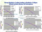 strong radiative cooling leading to radiative collapse model includes plasma self absorption