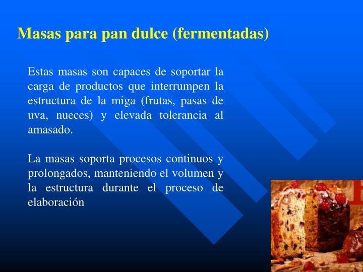 Masas para pan dulce (fermentadas)