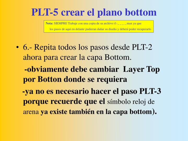 PLT-5 crear el plano bottom