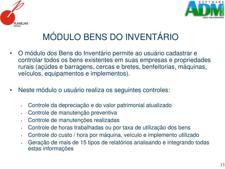 MÓDULO BENS DO INVENTÁRIO
