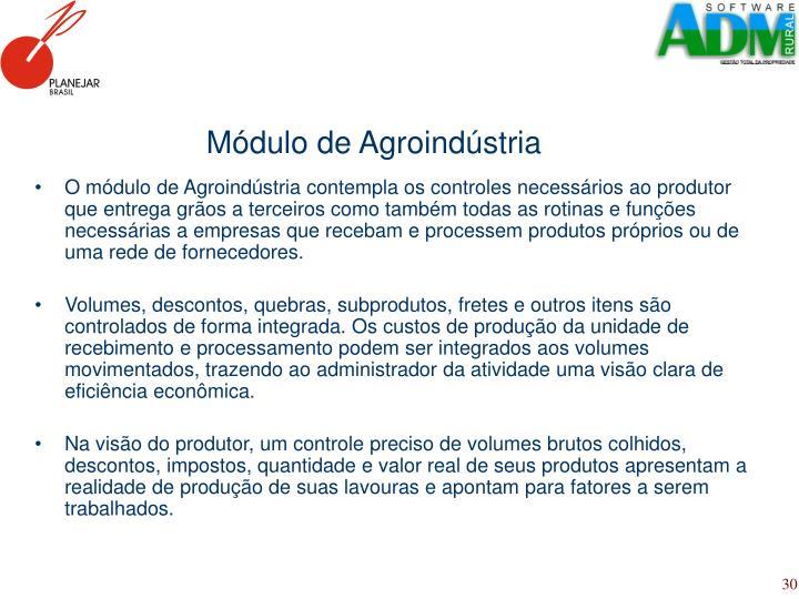 Módulo de Agroindústria