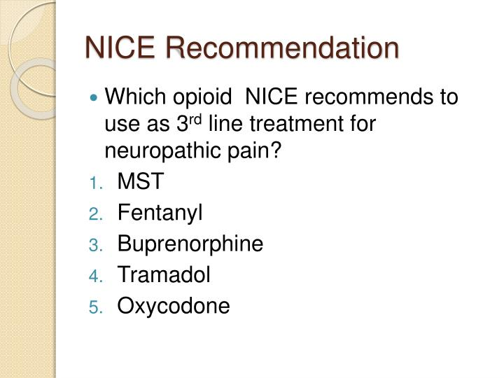 NICE Recommendation
