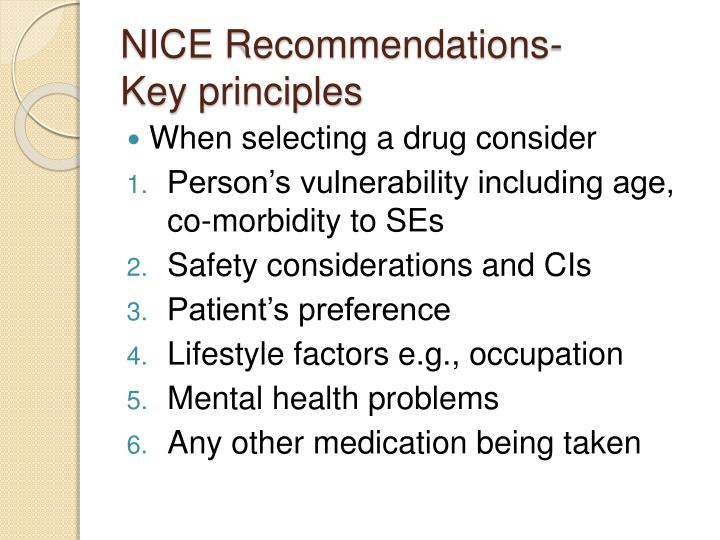 NICE Recommendations-