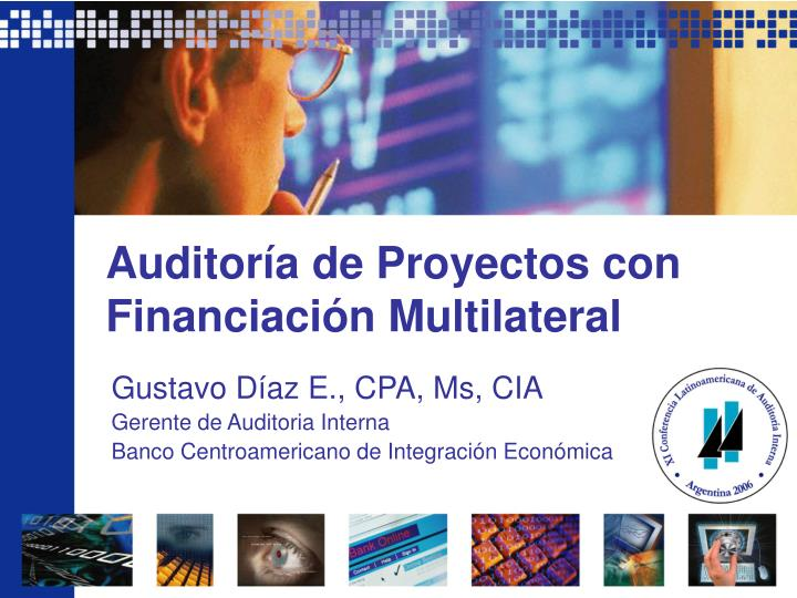 Auditor a de proyectos con financiaci n multilateral