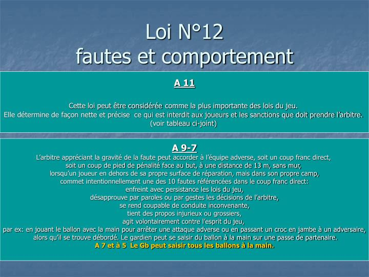 Loi N°12