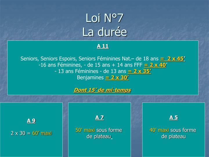 Loi N°7