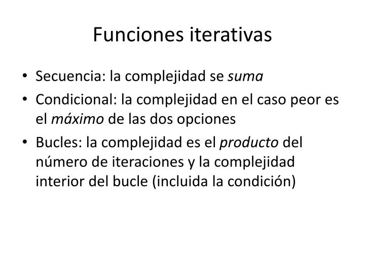 Funciones iterativas