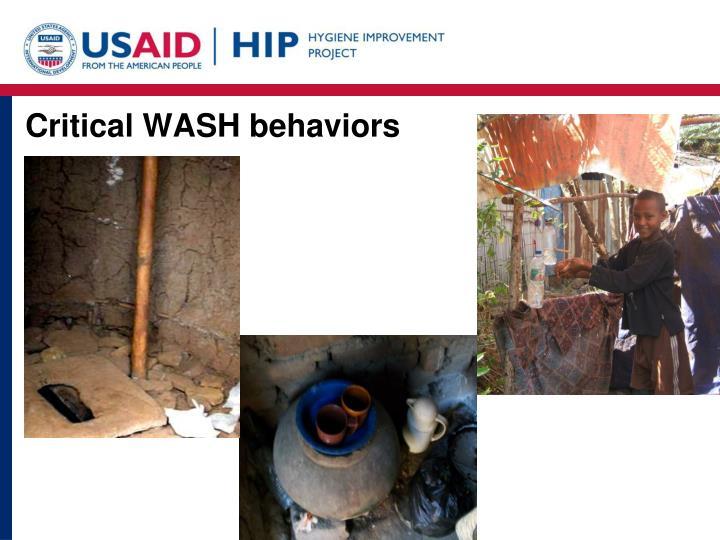 Critical WASH behaviors