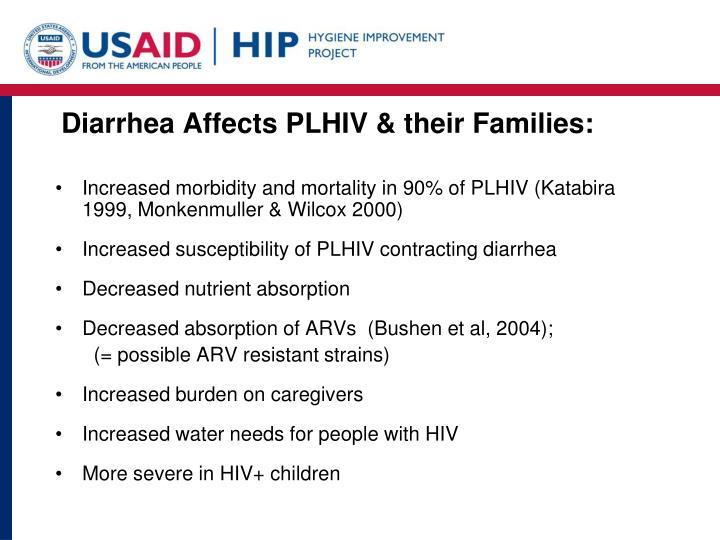 Diarrhea Affects PLHIV & their Families: