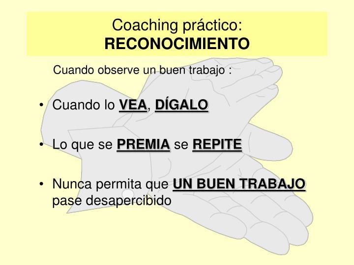 Coaching práctico: