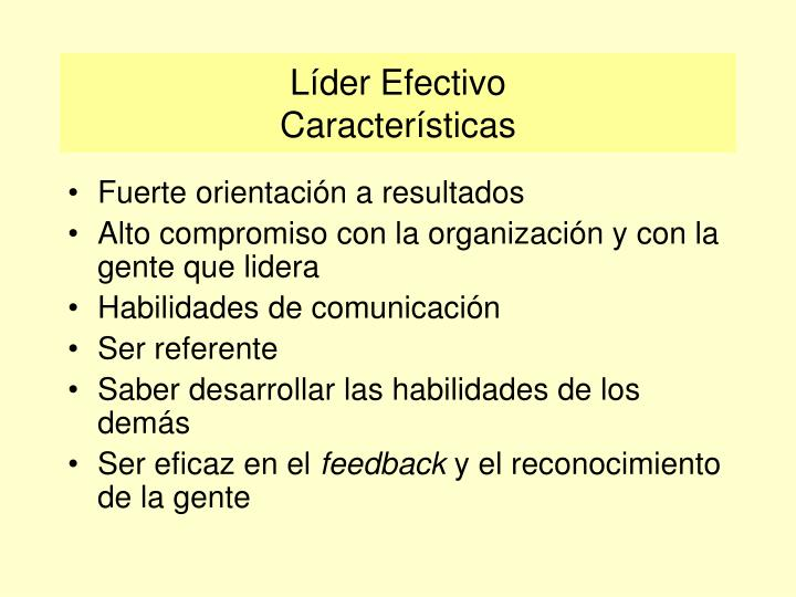 Líder Efectivo