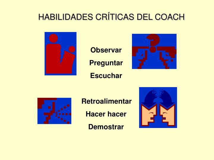 HABILIDADES CRÍTICAS DEL COACH