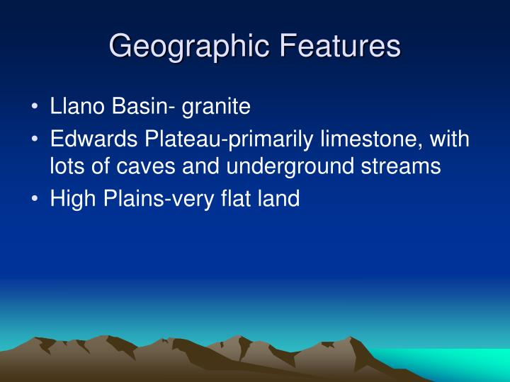 Geographic Features