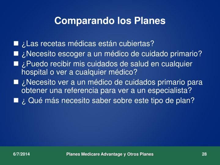Comparando los Planes