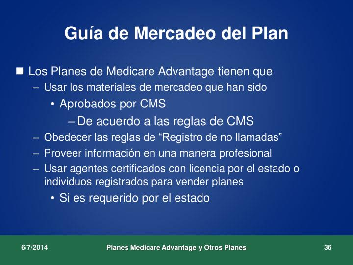 Guía de Mercadeo del Plan