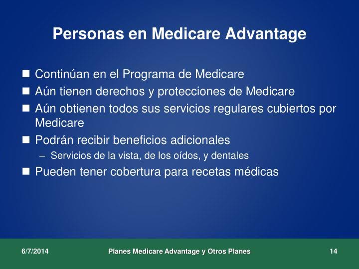 Personas en Medicare Advantage