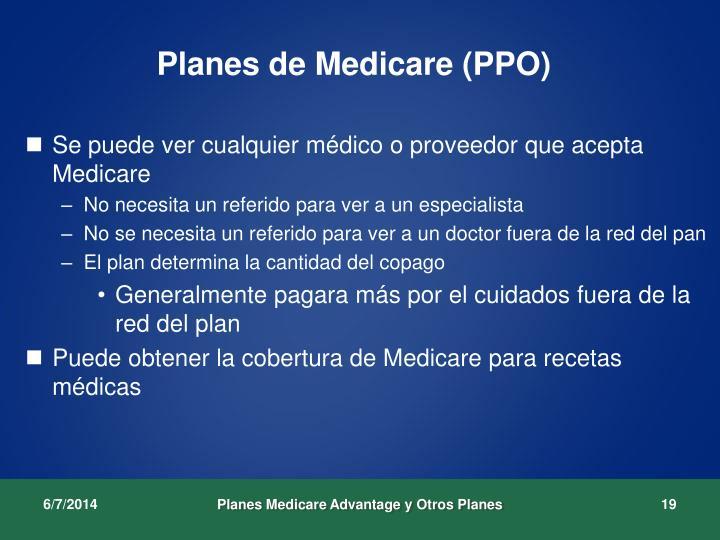 Planes de Medicare (PPO)