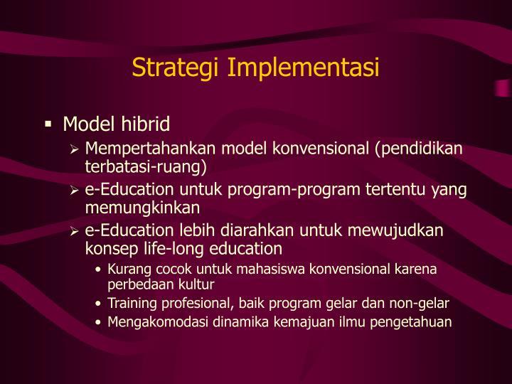 Strategi Implementasi