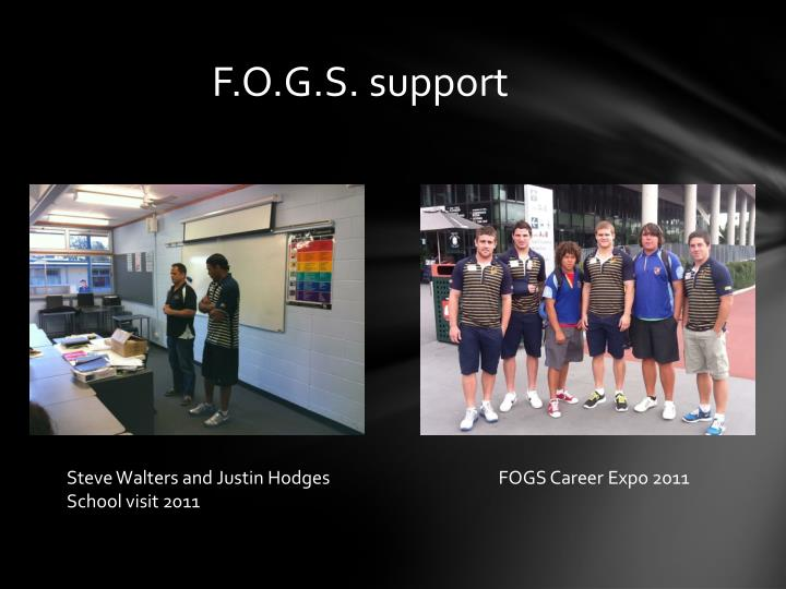 F.O.G.S. support