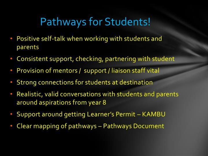 Pathways for Students!