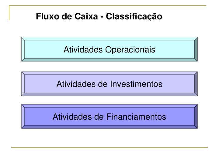 Fluxo de Caixa - Classificação