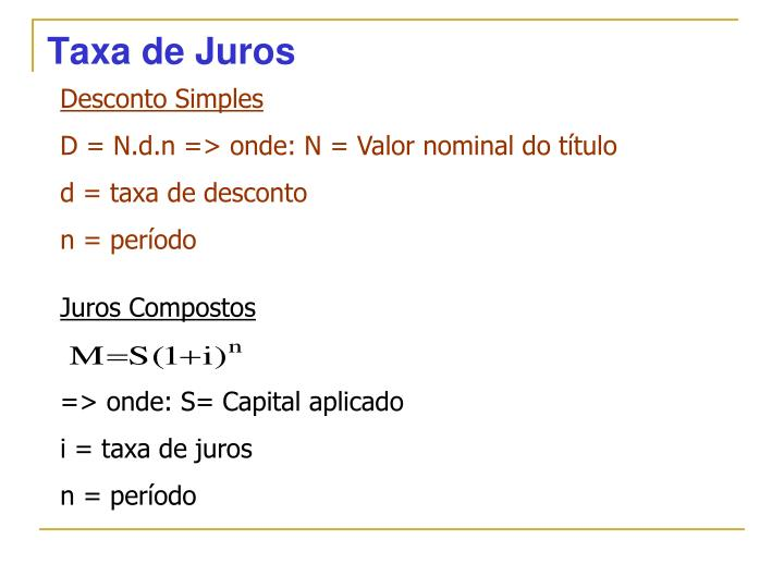 Taxa de Juros