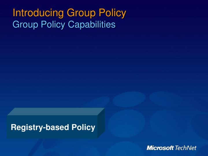 Registry-based Policy