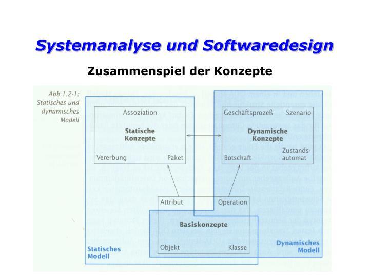Systemanalyse und Softwaredesign