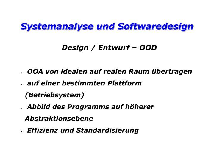 Design / Entwurf – OOD