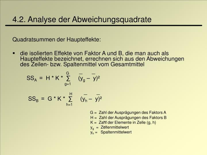 4.2. Analyse der Abweichungsquadrate