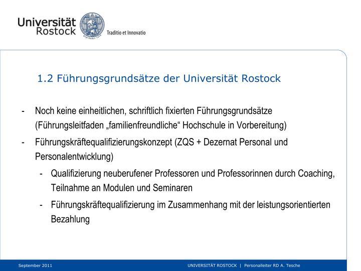 1.2 Führungsgrundsätze der Universität Rostock