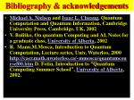 bibliography acknowledgements