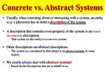 concrete vs abstract systems