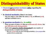 distinguishability of states