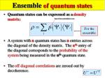 ensemble of quantum states