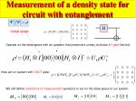 measurement of a density state for circuit with entanglement