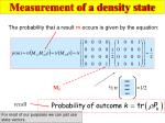 measurement of a density state