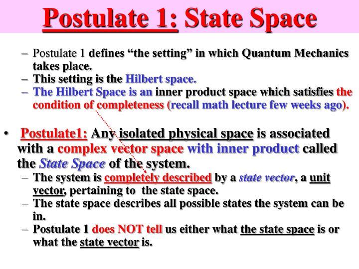Postulate 1: