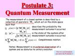 postulate 3 quantum measurement1