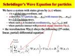 schr dinger s wave equation for particles