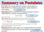summary on postulates