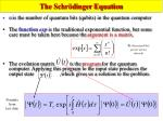 the schr dinger equation