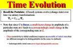 time evolution