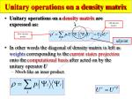 unitary operations on a density matrix