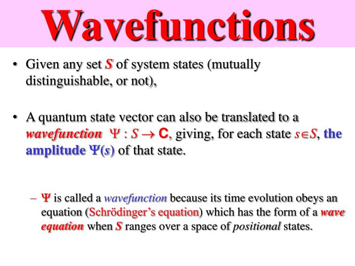 Wavefunctions