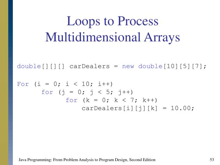 Loops to Process Multidimensional Arrays